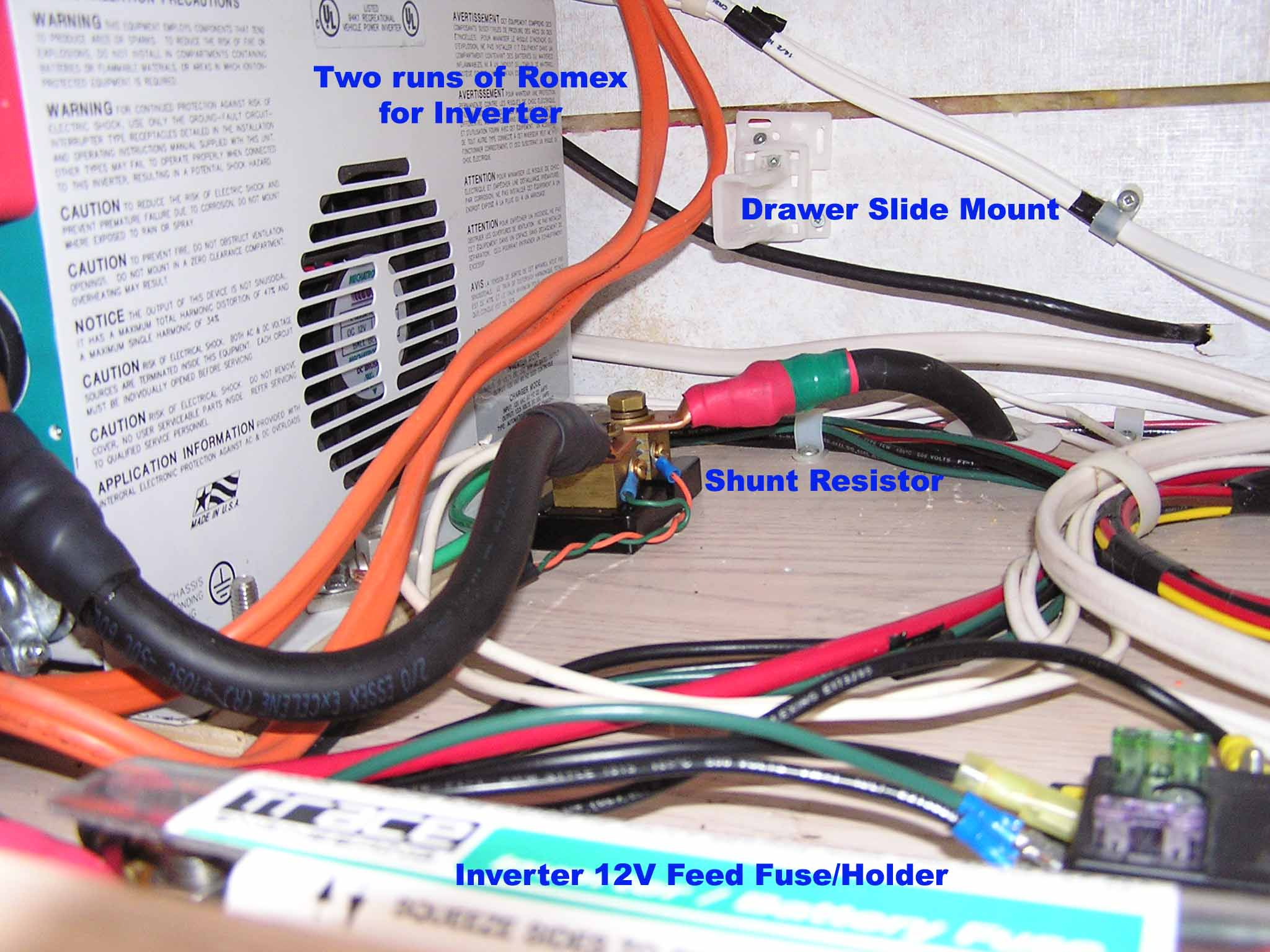 Camper Inverter And Battery Installation 4 Wire Generator To Breaker Box Wiring Converter Modifications